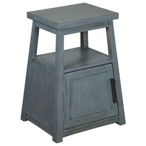 Uttermost Accent Furniture Cora Blue Wash Accent Table