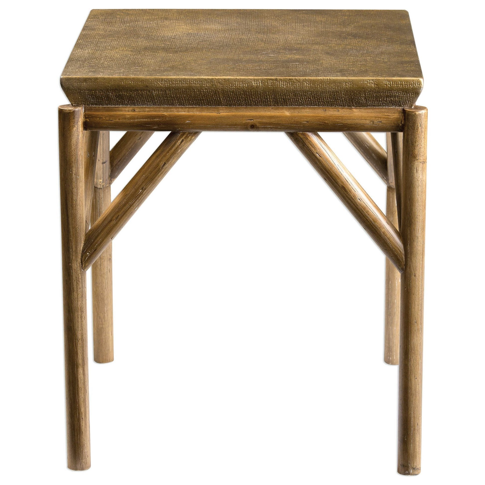 Uttermost Accent Furniture Kanti Metallic Champagne End Table - Item Number: 25962