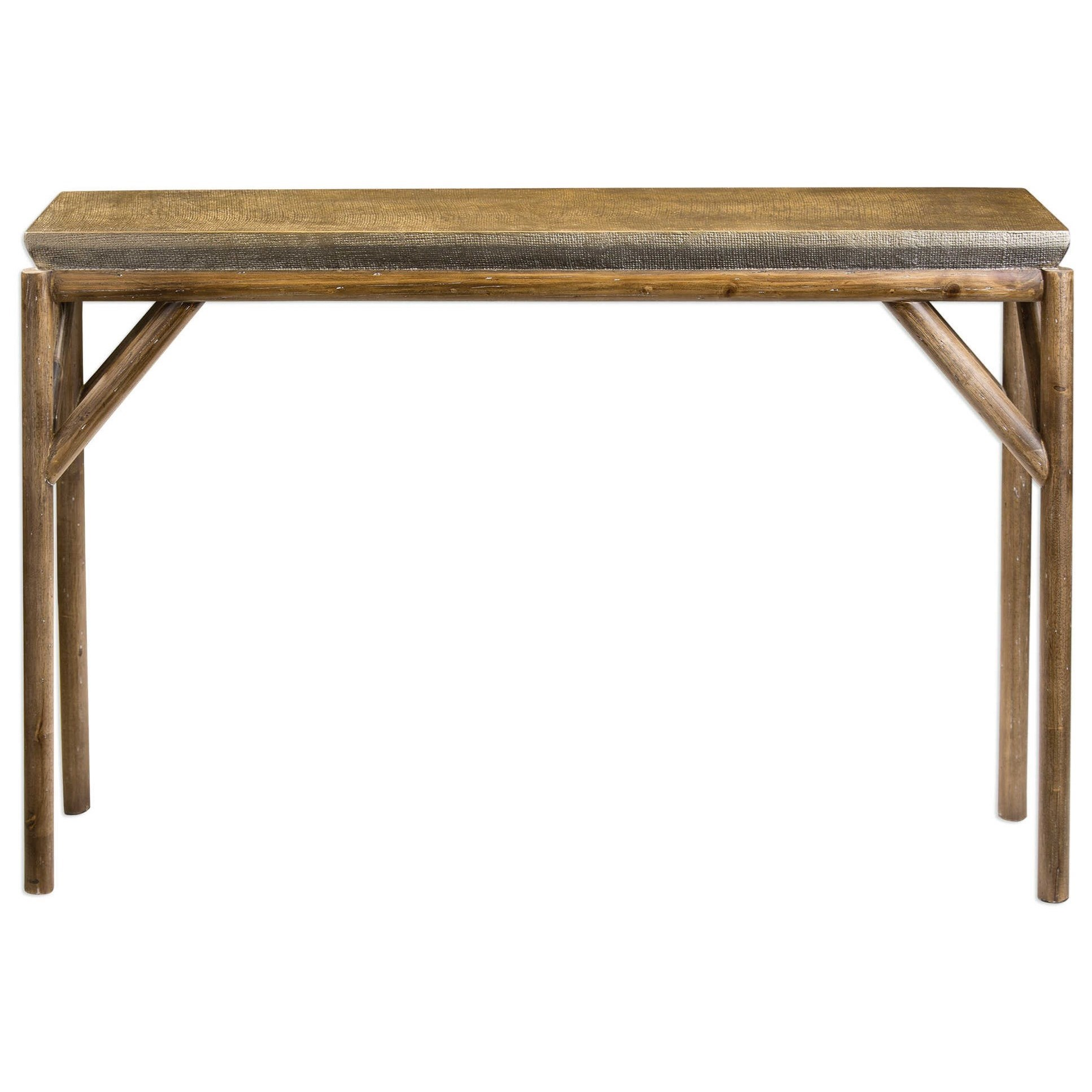 Uttermost Accent Furniture Kanti Metallic Champagne Console Table - Item Number: 25963