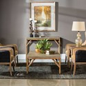 Uttermost Accent Furniture Kanti Metallic Champagne Console Table