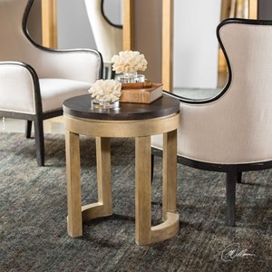 Uttermost Accent Furniture Orwin Satin Gold Accent Table