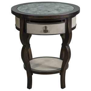 Remy Dark Walnut Accent Table