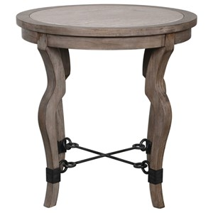 Uttermost Accent Furniture Blanche Travertine Lamp Table