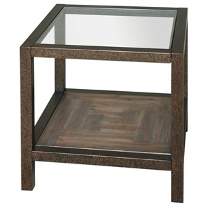 Uttermost Accent Furniture Carter Bronze & Glass End Table