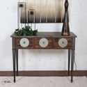 Uttermost Accent Furniture Patten Distressed Walnut Console Table