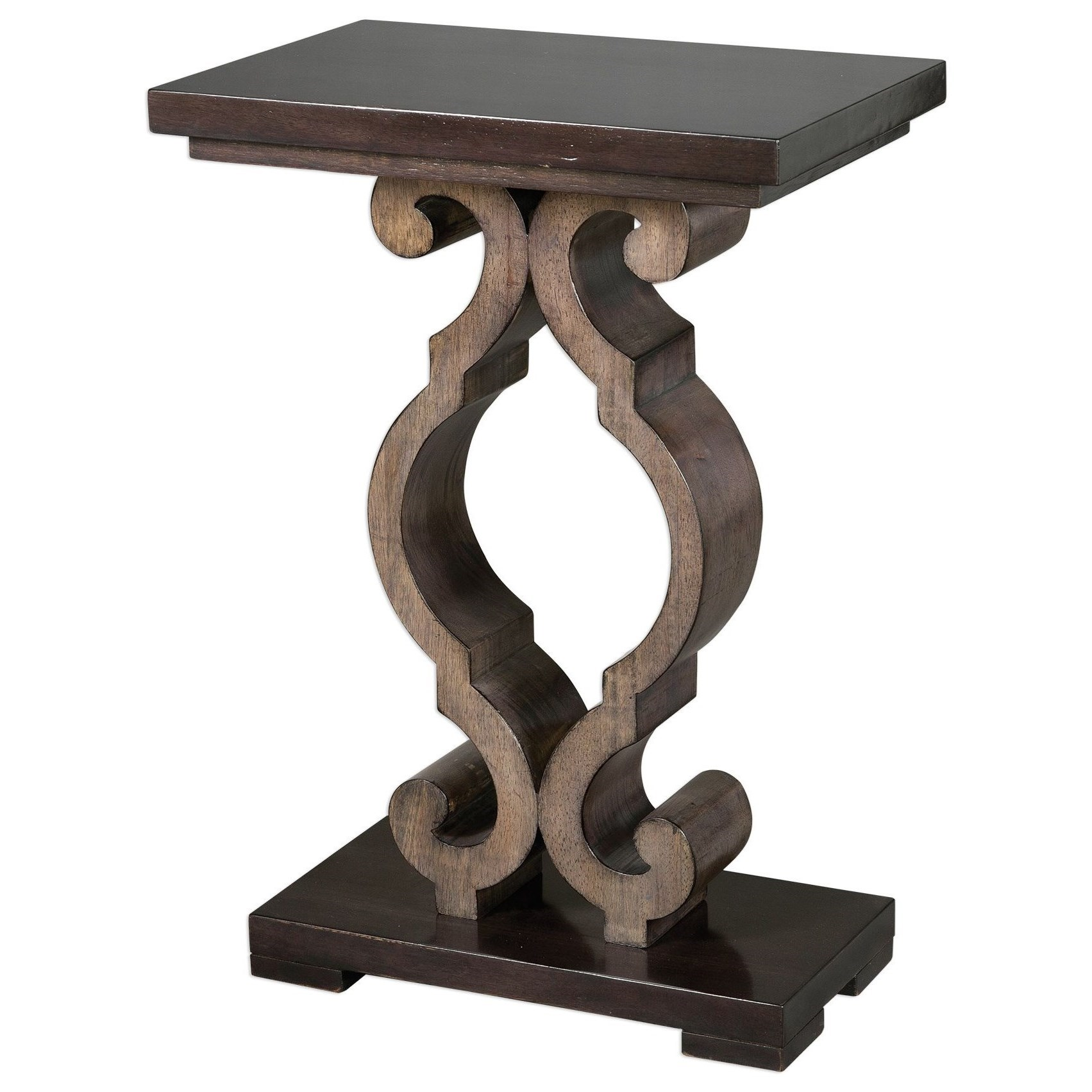 Accent Furniture - Occasional Tables Parina Ebony Accent Table by Uttermost at Factory Direct Furniture