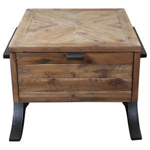 Uttermost Accent Furniture Brodie Natural Wood Accent Table