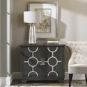 Uttermost Accent Furniture Caine Charcoal Accent Cabinet