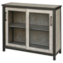 Uttermost Accent Furniture - Chests Dylan Wire-Mesh Accent Cabinet