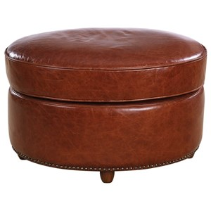 Uttermost Accent Furniture Roosevelt Oval Ottoman