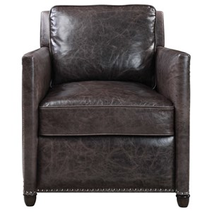 Uttermost Accent Furniture Roosevelt Leather Club Chair