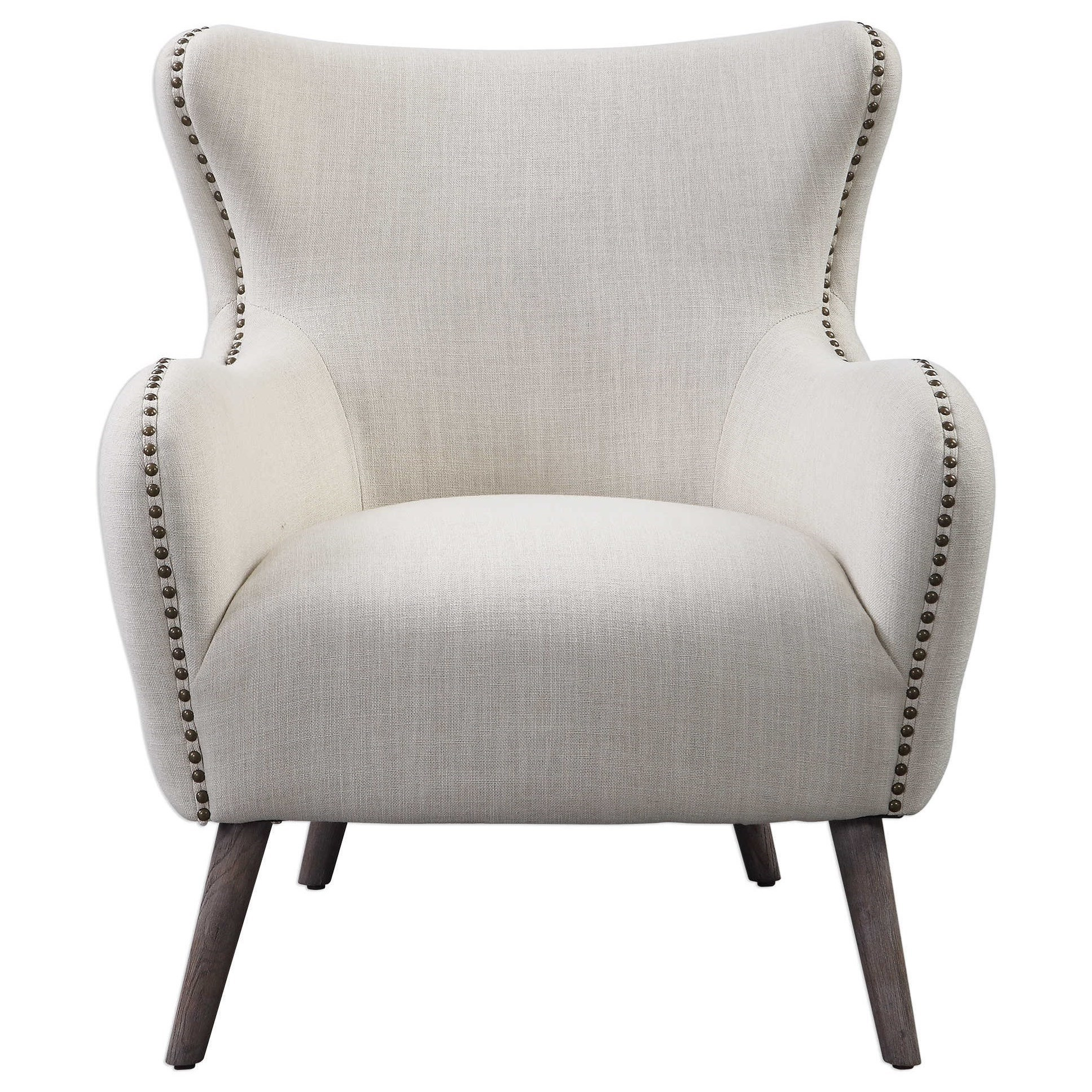 Accent Furniture - Accent Chairs Donya Cream Accent Chair by Uttermost at Dunk & Bright Furniture