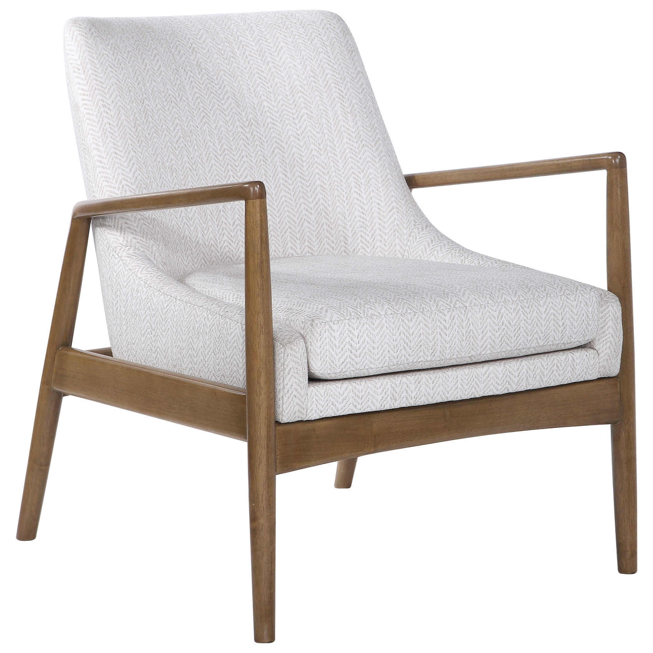 Bev White Accent Chair