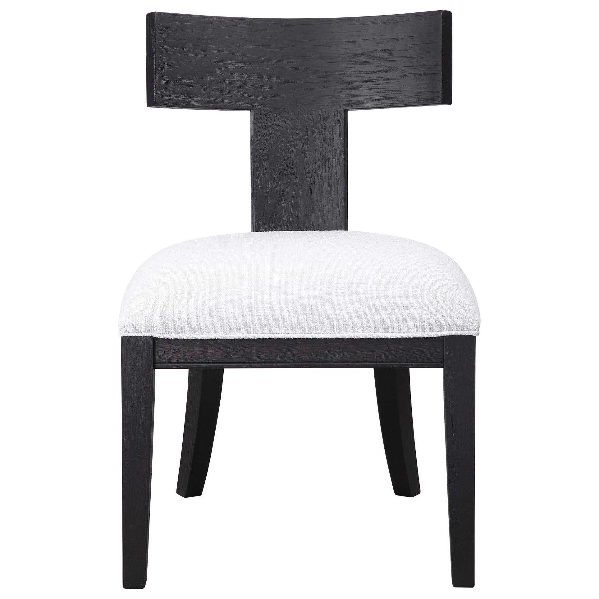 Accent Furniture - Accent Chairs Idris Armless Chair by Uttermost at Goffena Furniture & Mattress Center