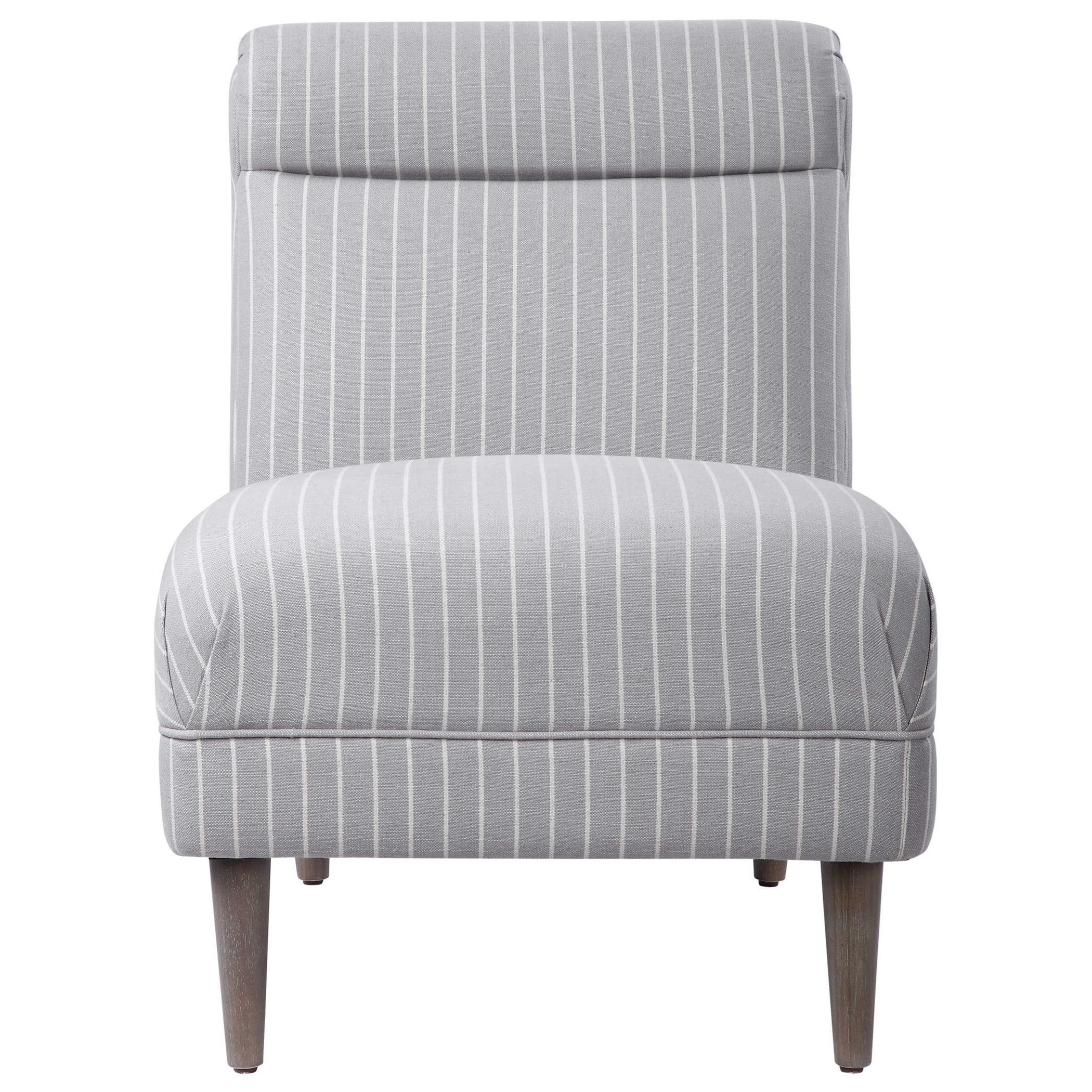 Accent Furniture - Accent Chairs Grenada Light Gray Accent Chair by Uttermost at Del Sol Furniture