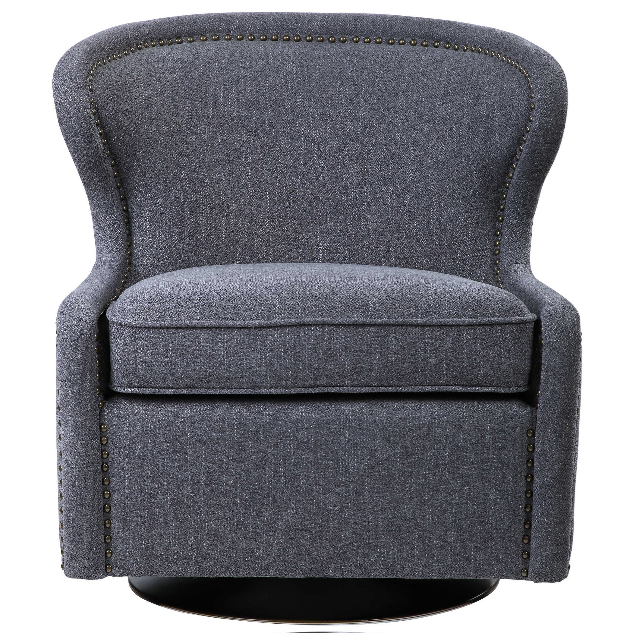 Accent Furniture - Accent Chairs Biscay Swivel Chair by Uttermost at Mueller Furniture