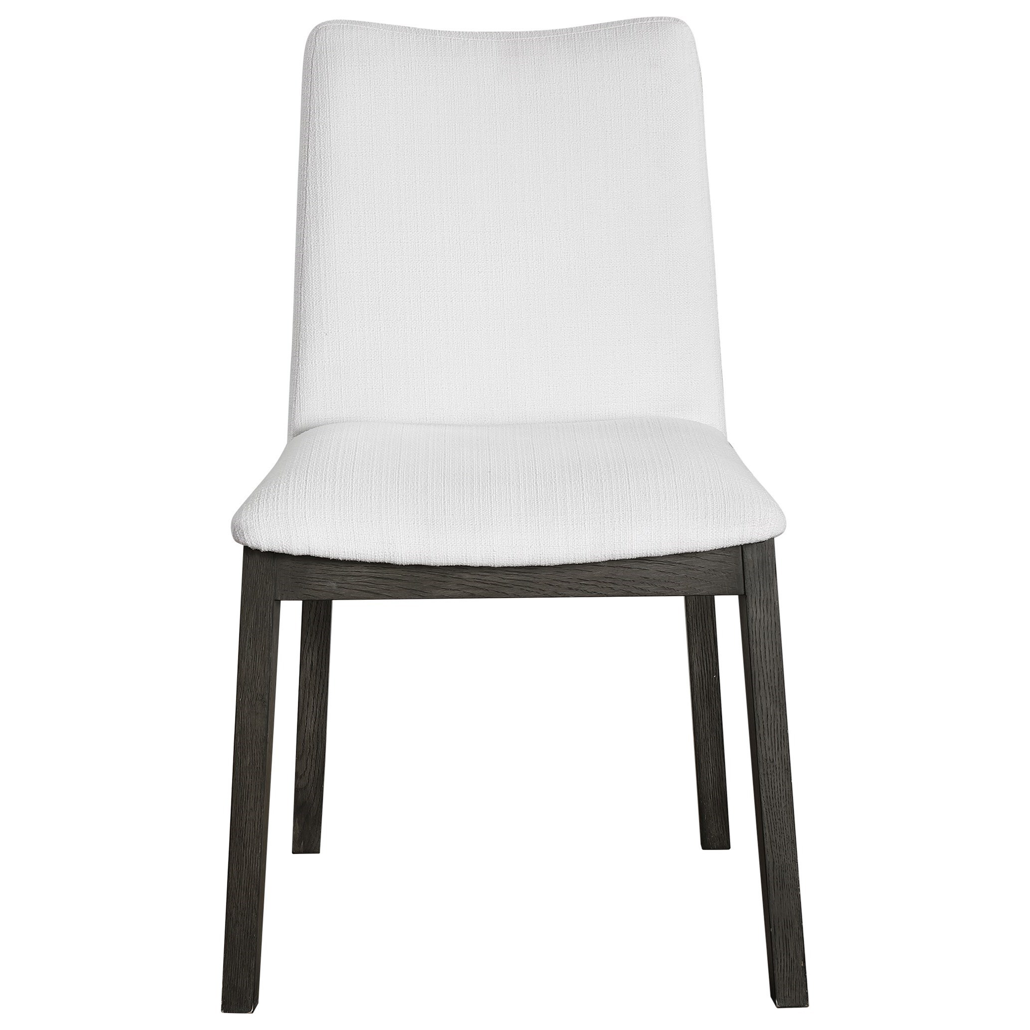 Accent Furniture - Accent Chairs Delano White Armless Chair S/2 by Uttermost at Dunk & Bright Furniture
