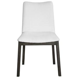 Delano White Armless Chair Set of 2
