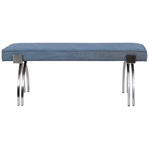Marlin Modern Denim Bench