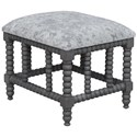 Uttermost Accent Furniture - Benches Estes Faux Cow Hide Small Bench - Item Number: 23568