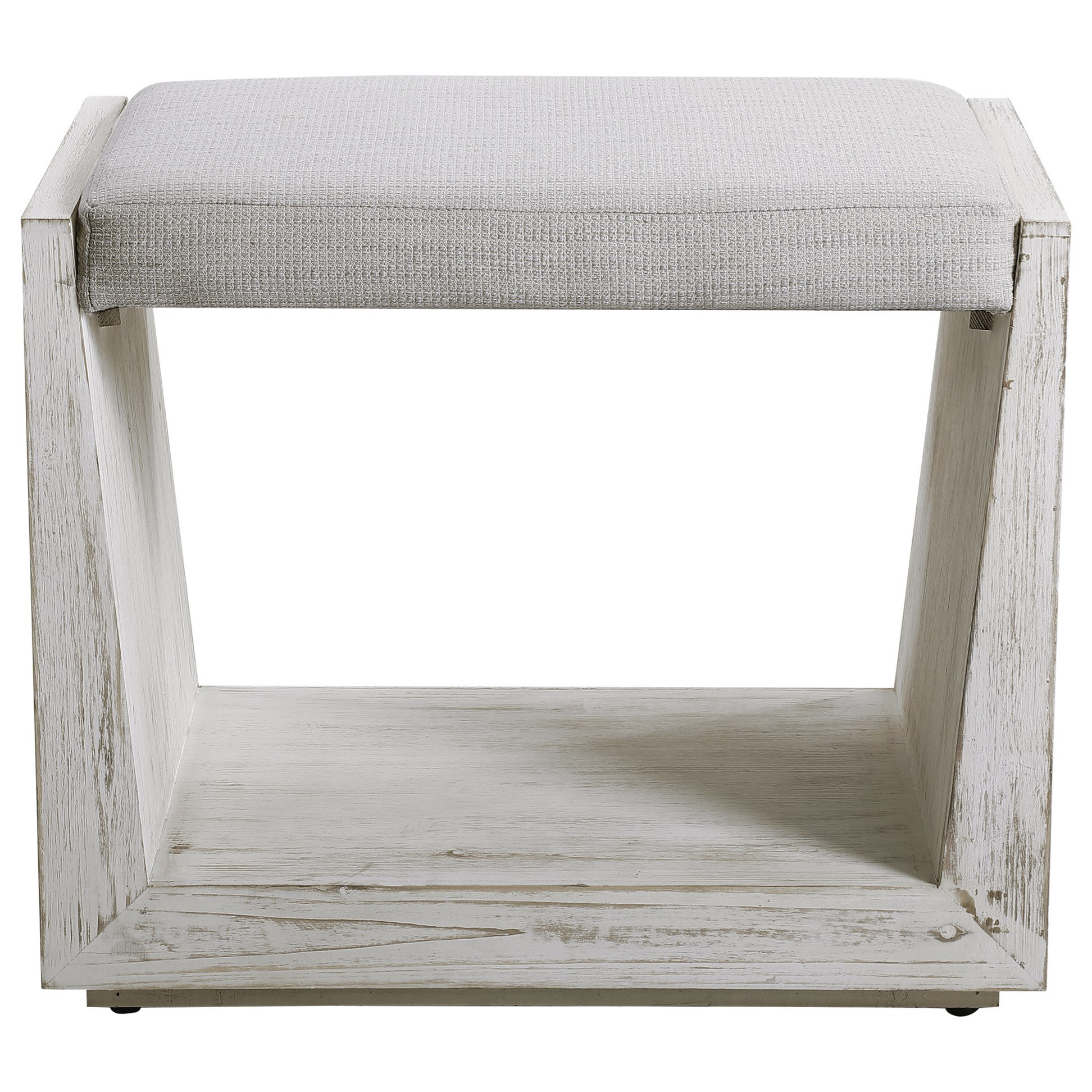 Accent Furniture - Benches Cabana White Small Bench by Uttermost at Factory Direct Furniture