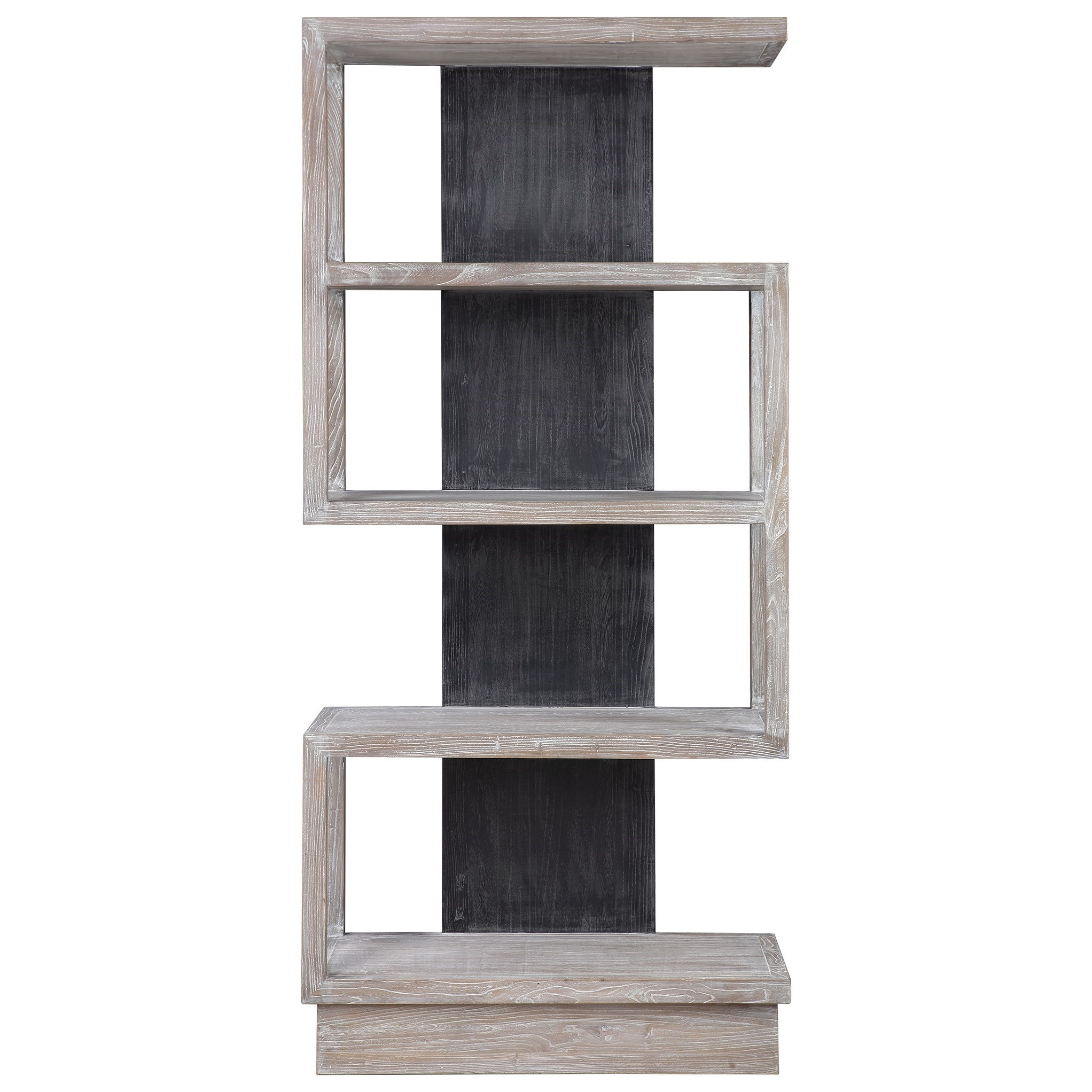 Accent Furniture - Bookcases Nicasia Modern Etagere by Uttermost at Goffena Furniture & Mattress Center