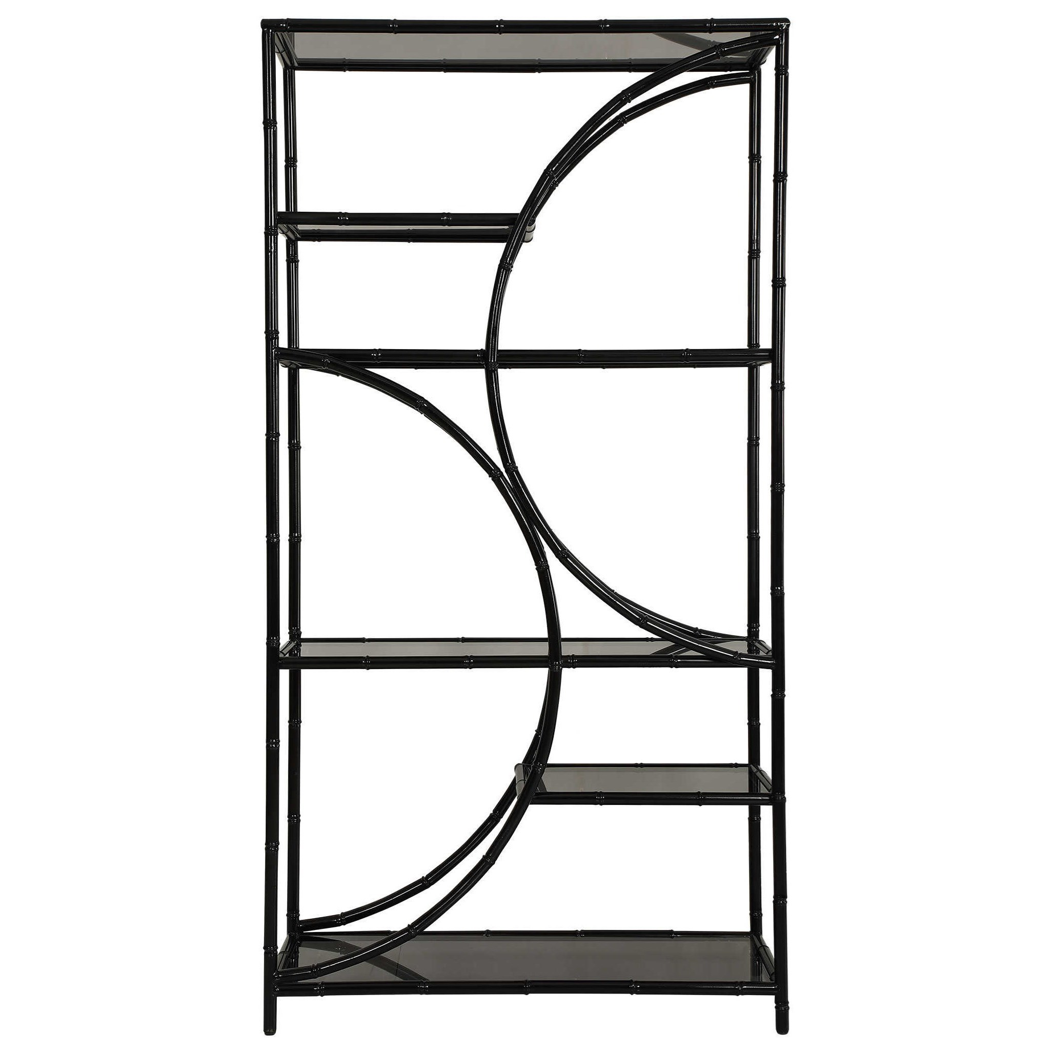 Accent Furniture - Bookcases Black Iron Etagere by Uttermost at Upper Room Home Furnishings
