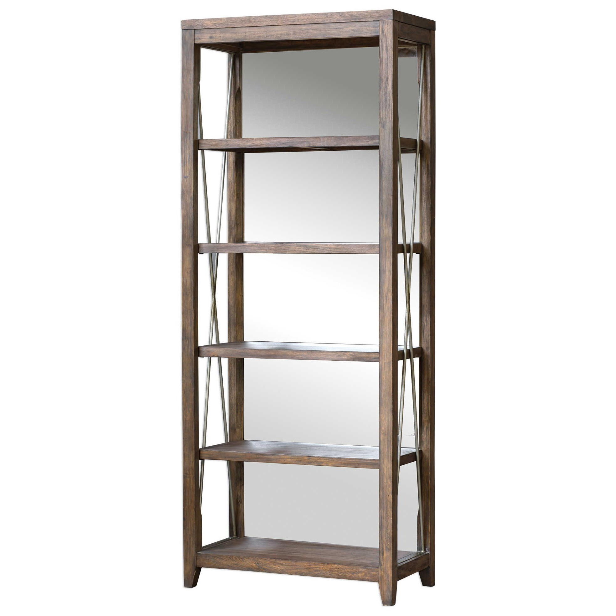 Delancey Weathered Oak Etagere