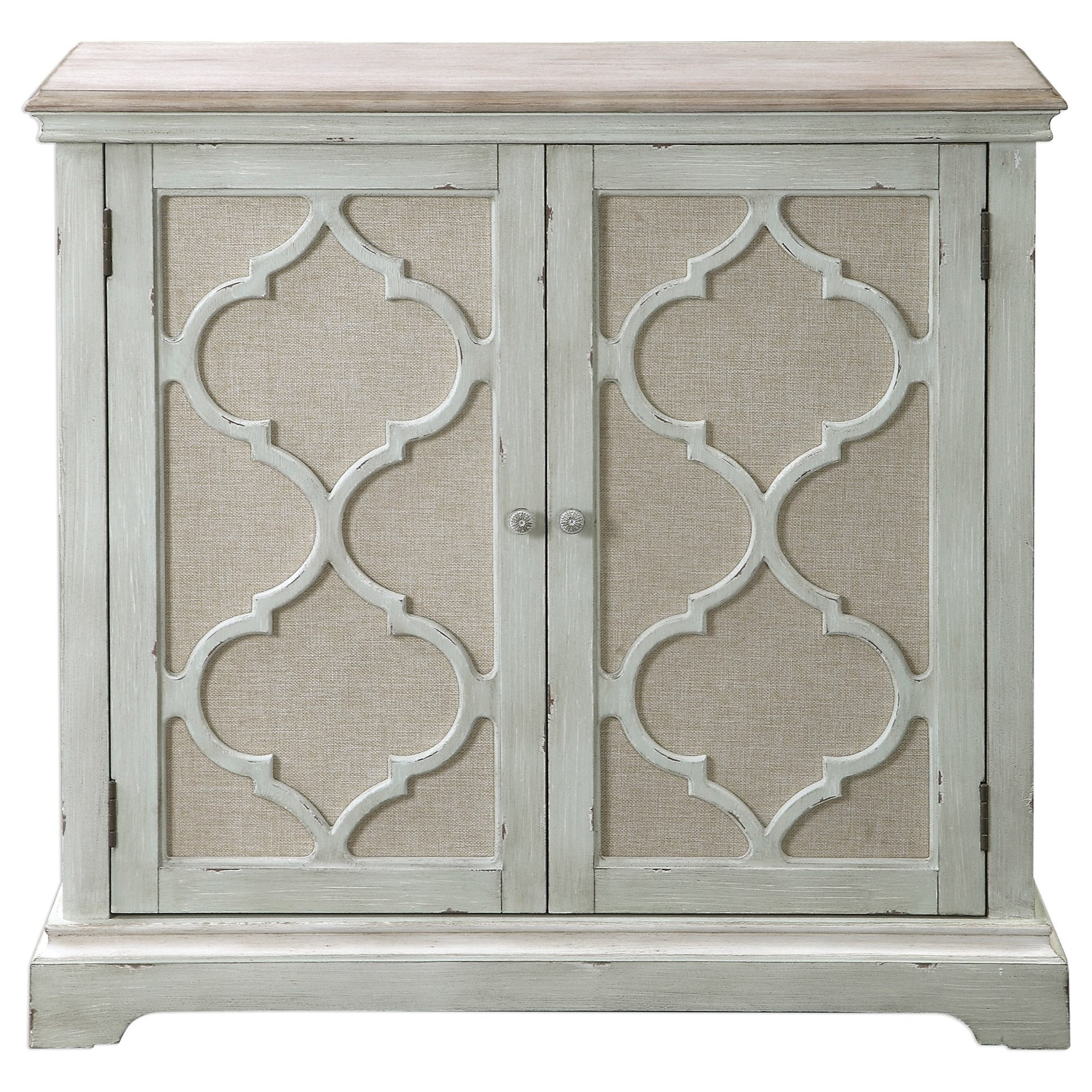 Accent Furniture - Chests Sophie Sea Grey 2 Door Cabinet by Uttermost at Reid's Furniture
