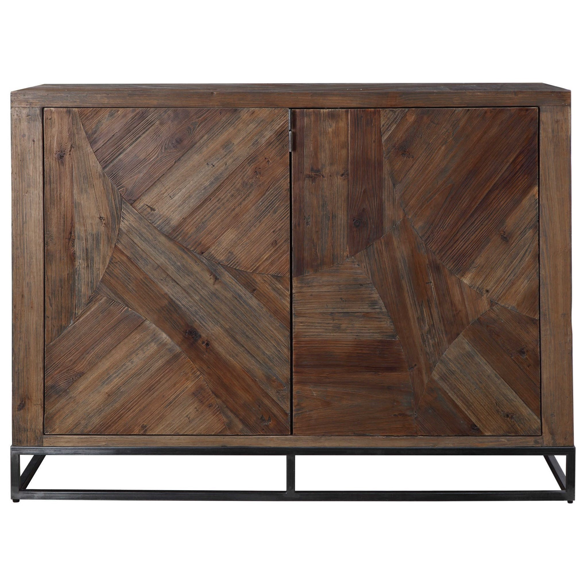 Evros Reclaimed Wood 2-Door Cabinet