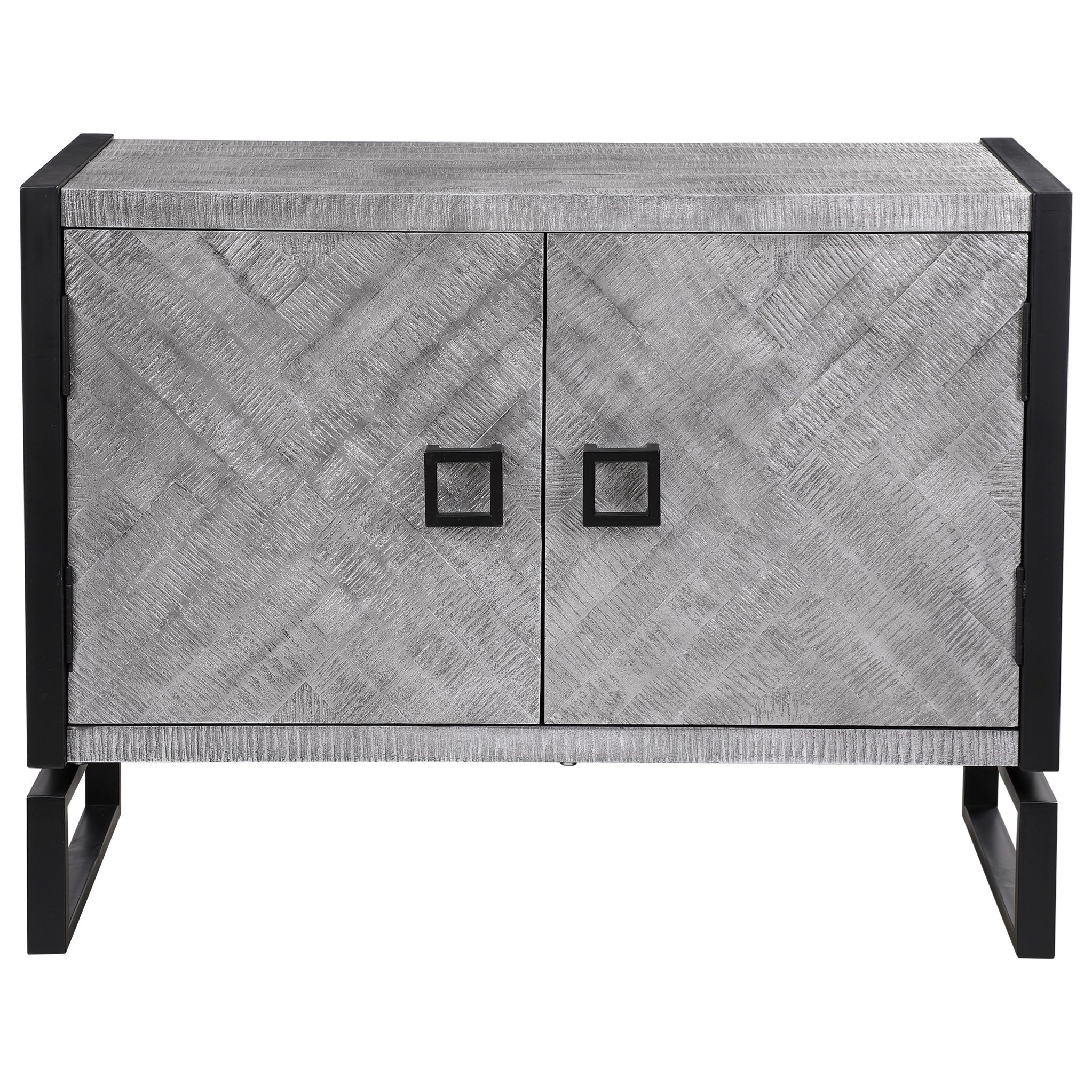 Keyes 2-Door Gray Cabinet