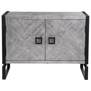 Keyes 2-Door Gray Cabinet
