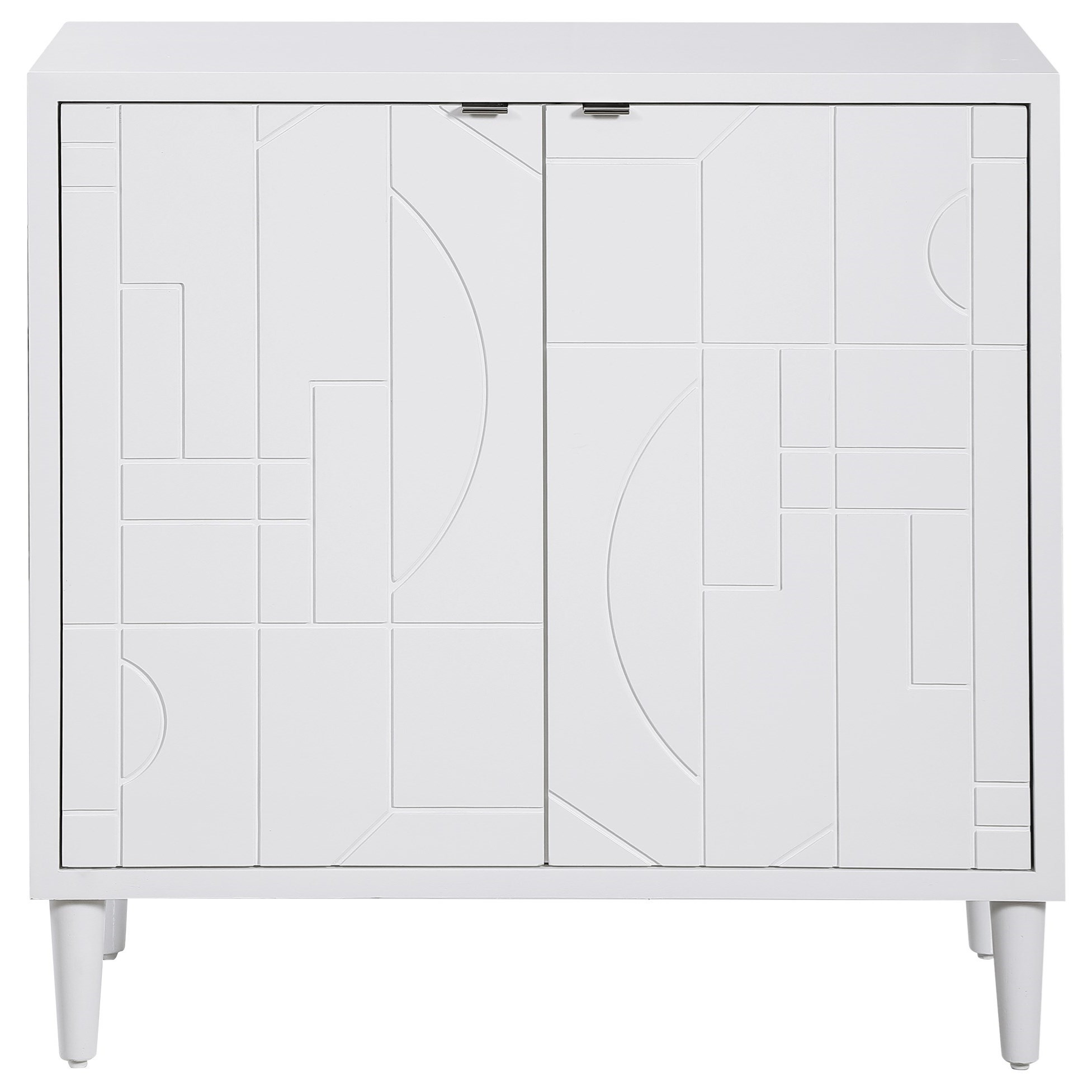 Accent Furniture - Chests Stockholm White 2-Door Cabinet by Uttermost at Dunk & Bright Furniture