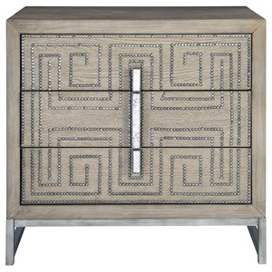 Devya Gray Oak Accent Chest