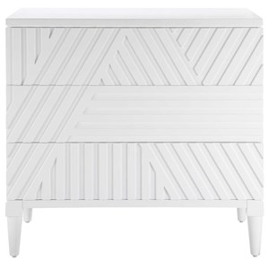 Colby White Drawer Chest