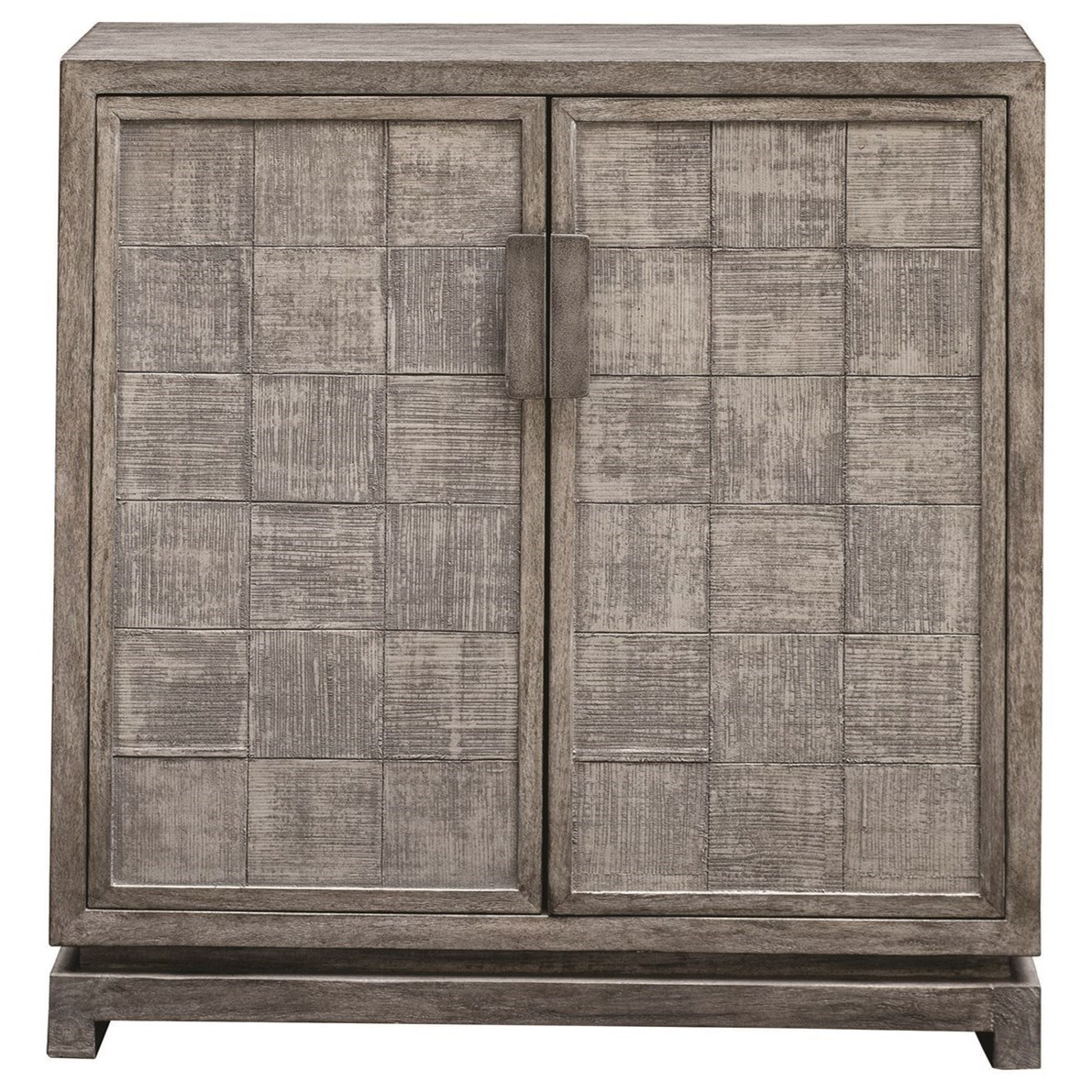 Hamadi Distressed Gray 2-Door Cabinet