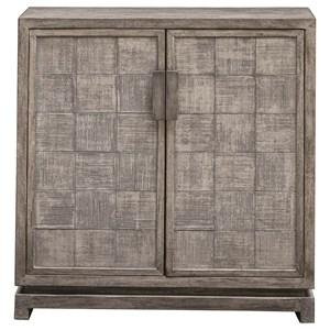 Hamadi Distressed Gray 2-Door Cabinet
