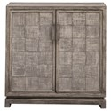 Uttermost Accent Furniture - Chests Hamadi Distressed Gray 2-Door Cabinet - Item Number: 25444