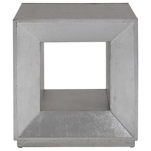 Flair Silver Cube Table