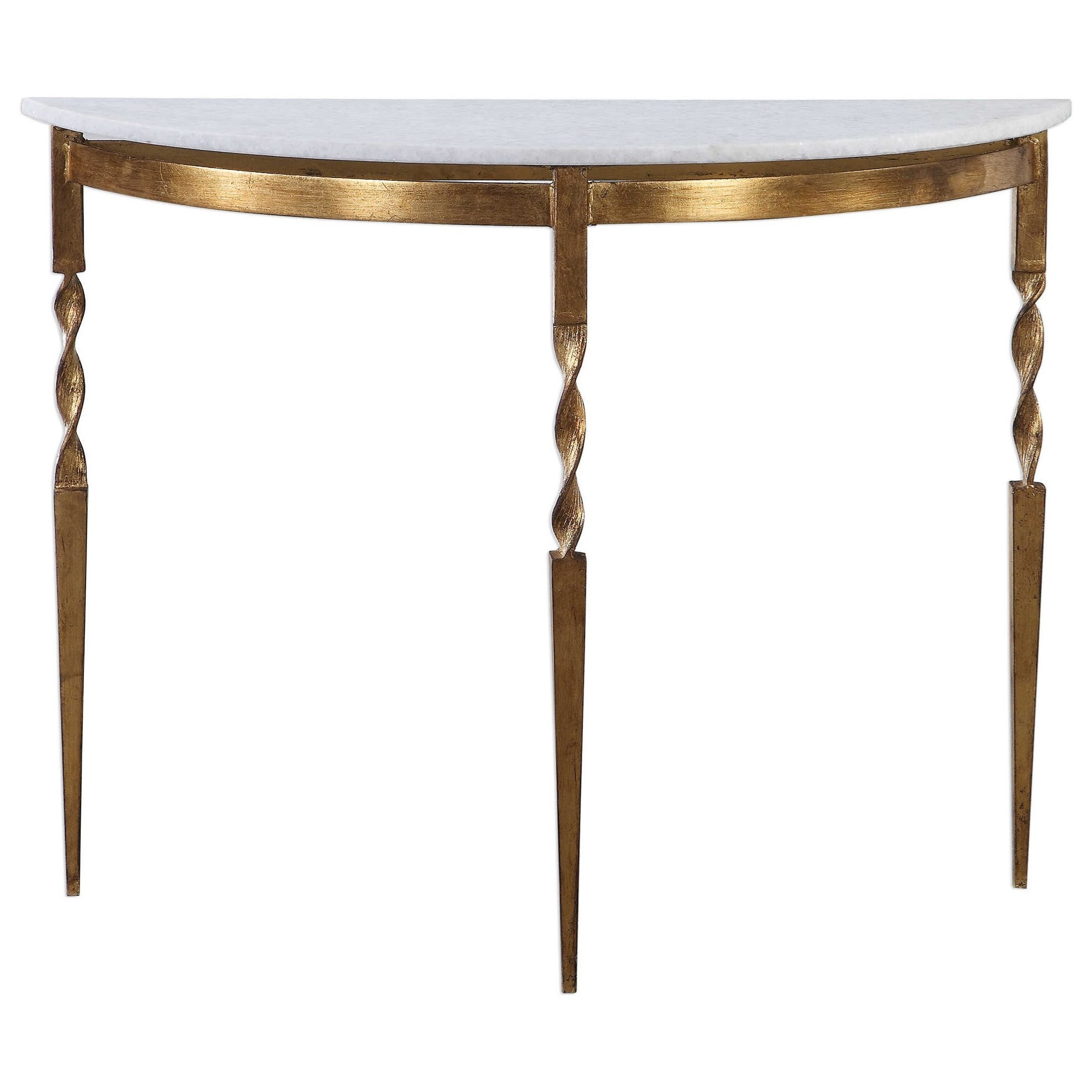 Accent Furniture - Occasional Tables Imelda Demilune Console Table by Uttermost at Goffena Furniture & Mattress Center