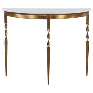 Imelda Demilune Console Table