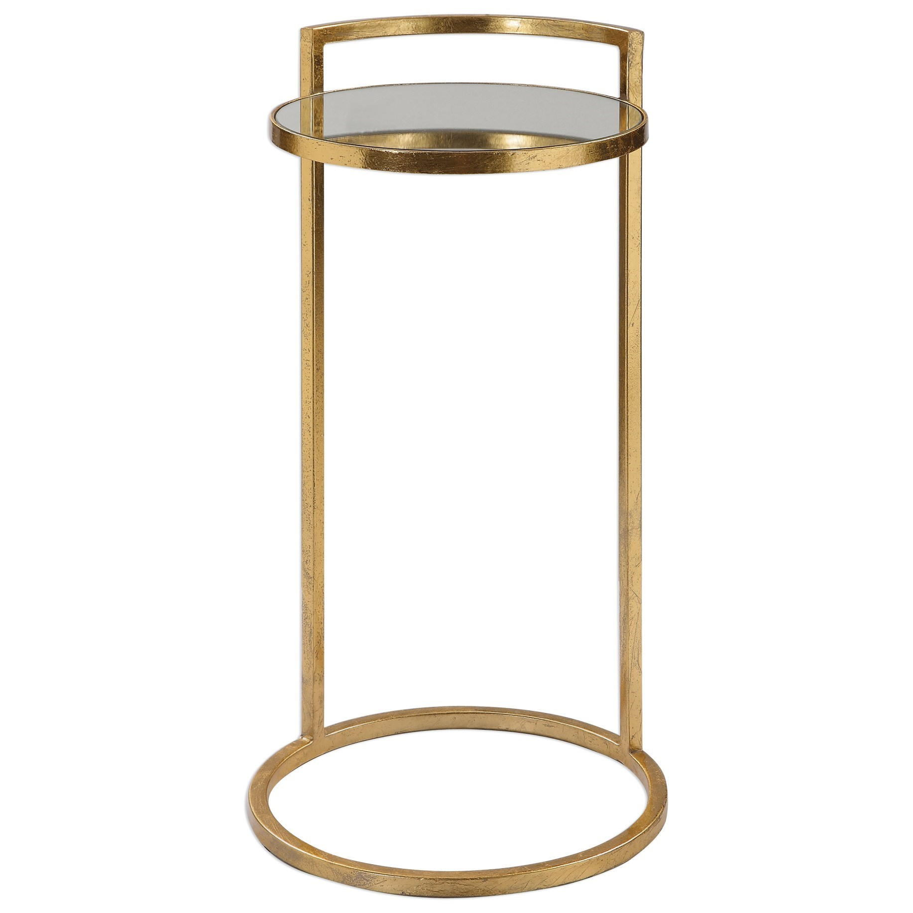 Accent Furniture - Occasional Tables Cailin Gold Accent Table by Uttermost at Factory Direct Furniture