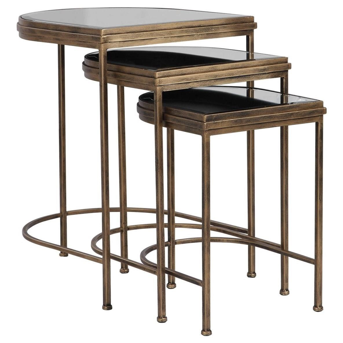Accent Furniture - Occasional Tables India Nesting Tables, Set/3 by Uttermost at Goffena Furniture & Mattress Center