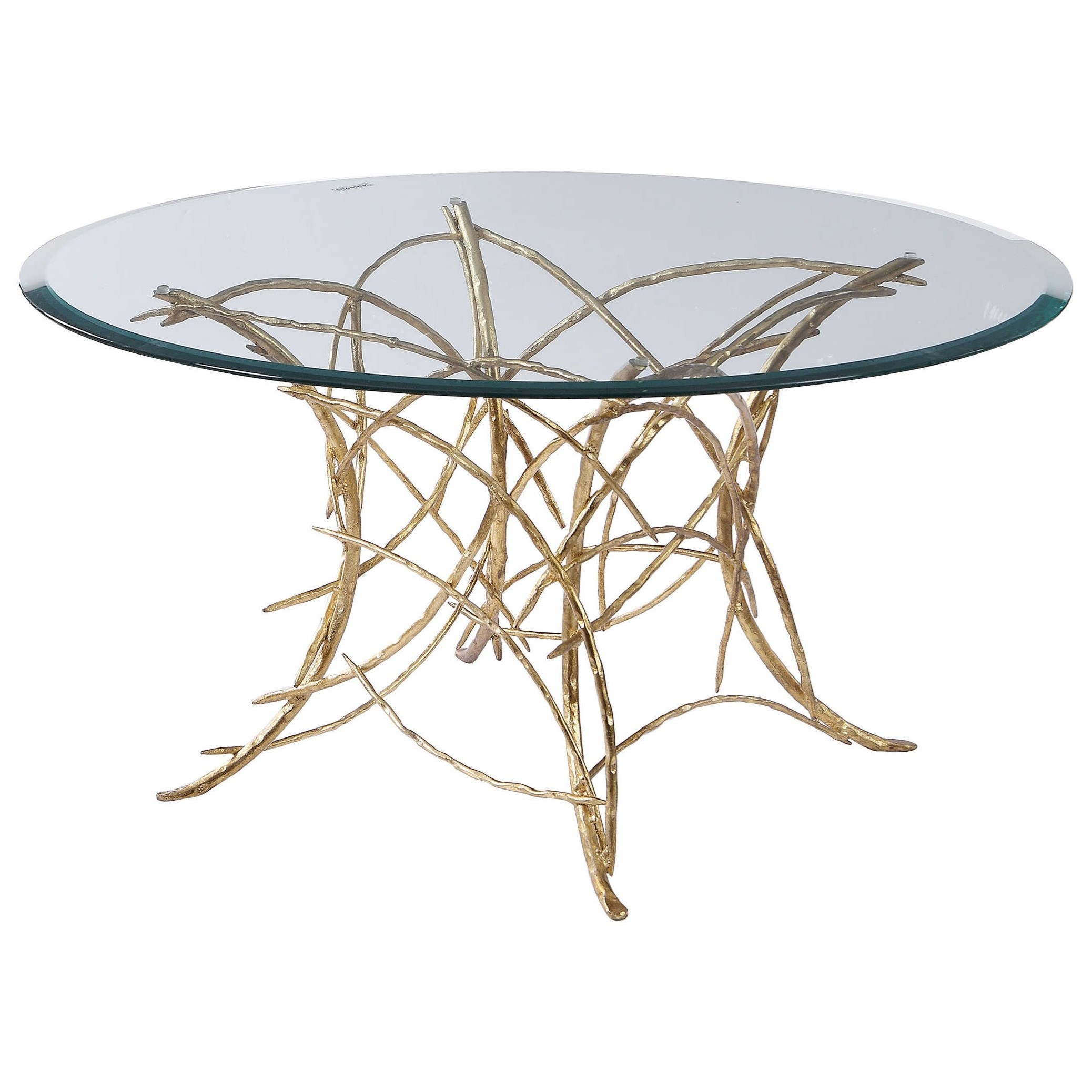 Accent Furniture - Occasional Tables Amoret Glass Coffee Table by Uttermost at Reid's Furniture