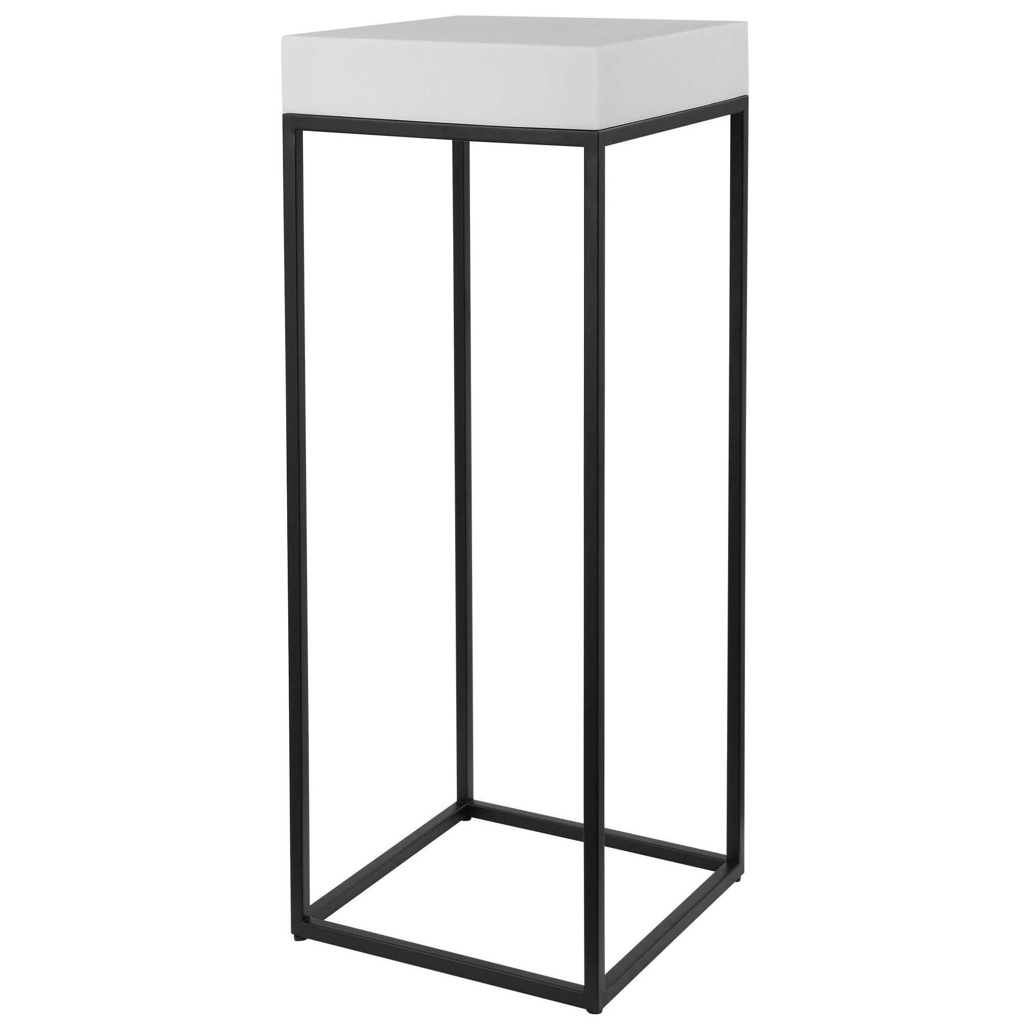 Accent Furniture - Occasional Tables Gambia Marble Plant Stand by Uttermost at Factory Direct Furniture
