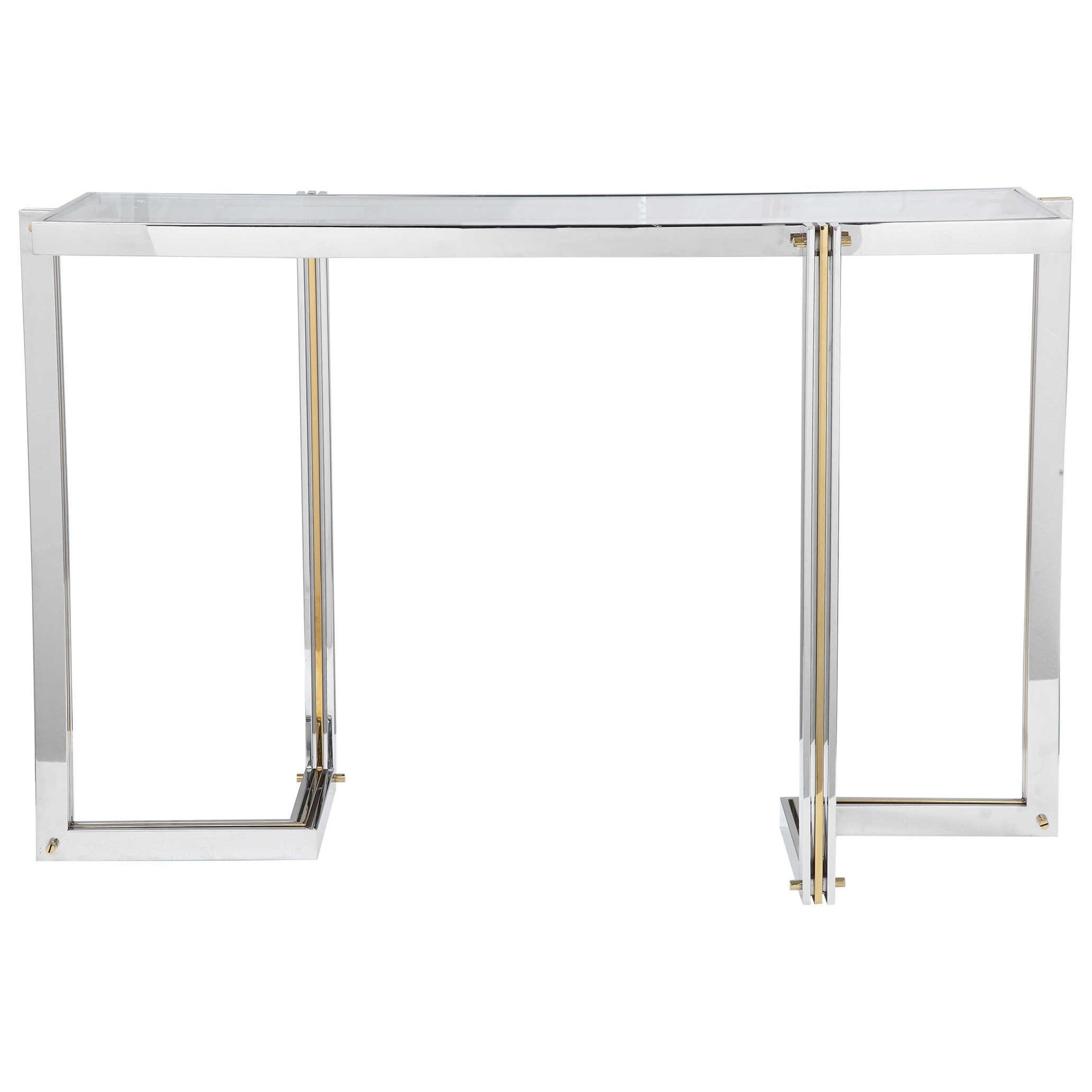Accent Furniture - Occasional Tables Locke Modern Console Table by Uttermost at Factory Direct Furniture