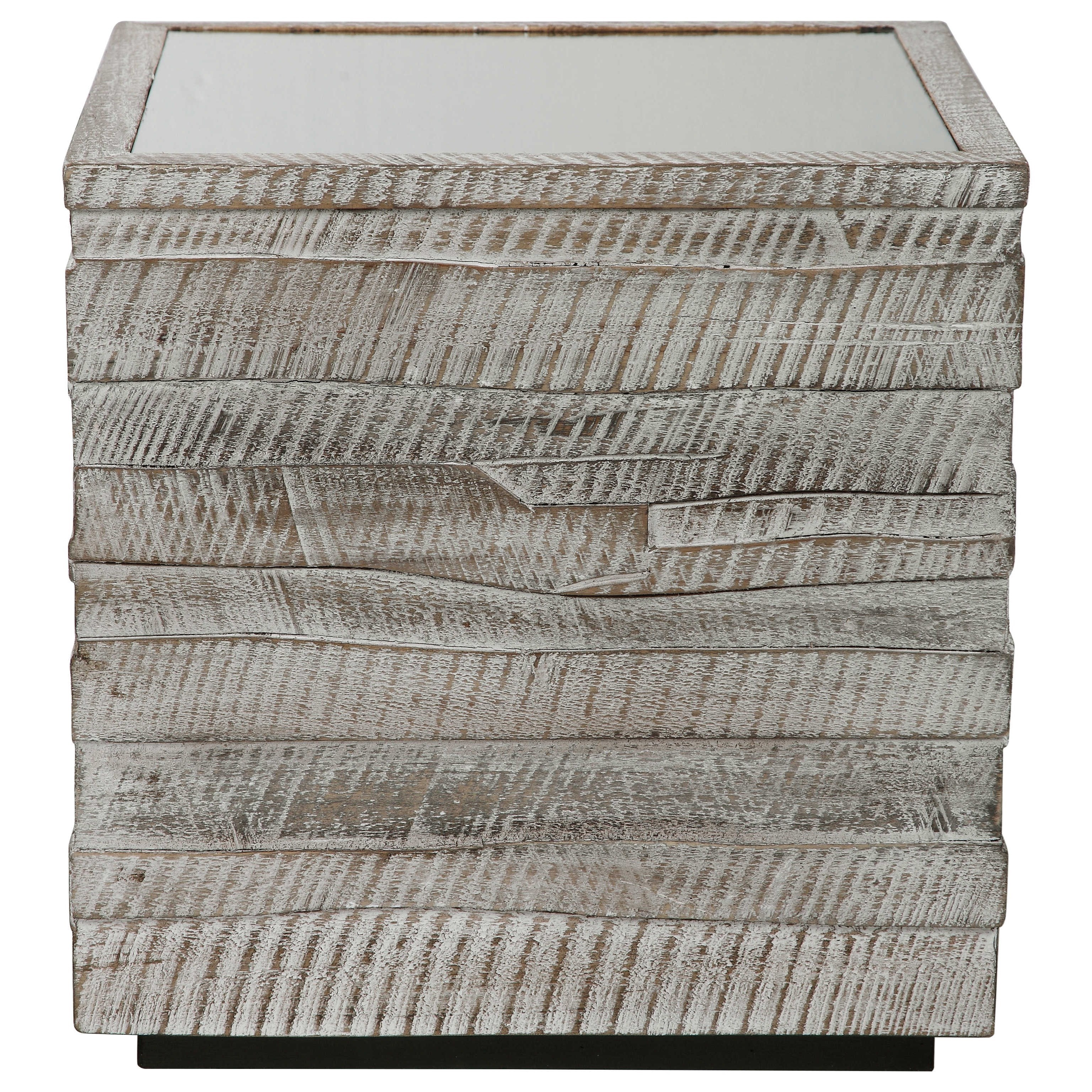 Accent Furniture - Occasional Tables Messinia Cube Table by Uttermost at Upper Room Home Furnishings