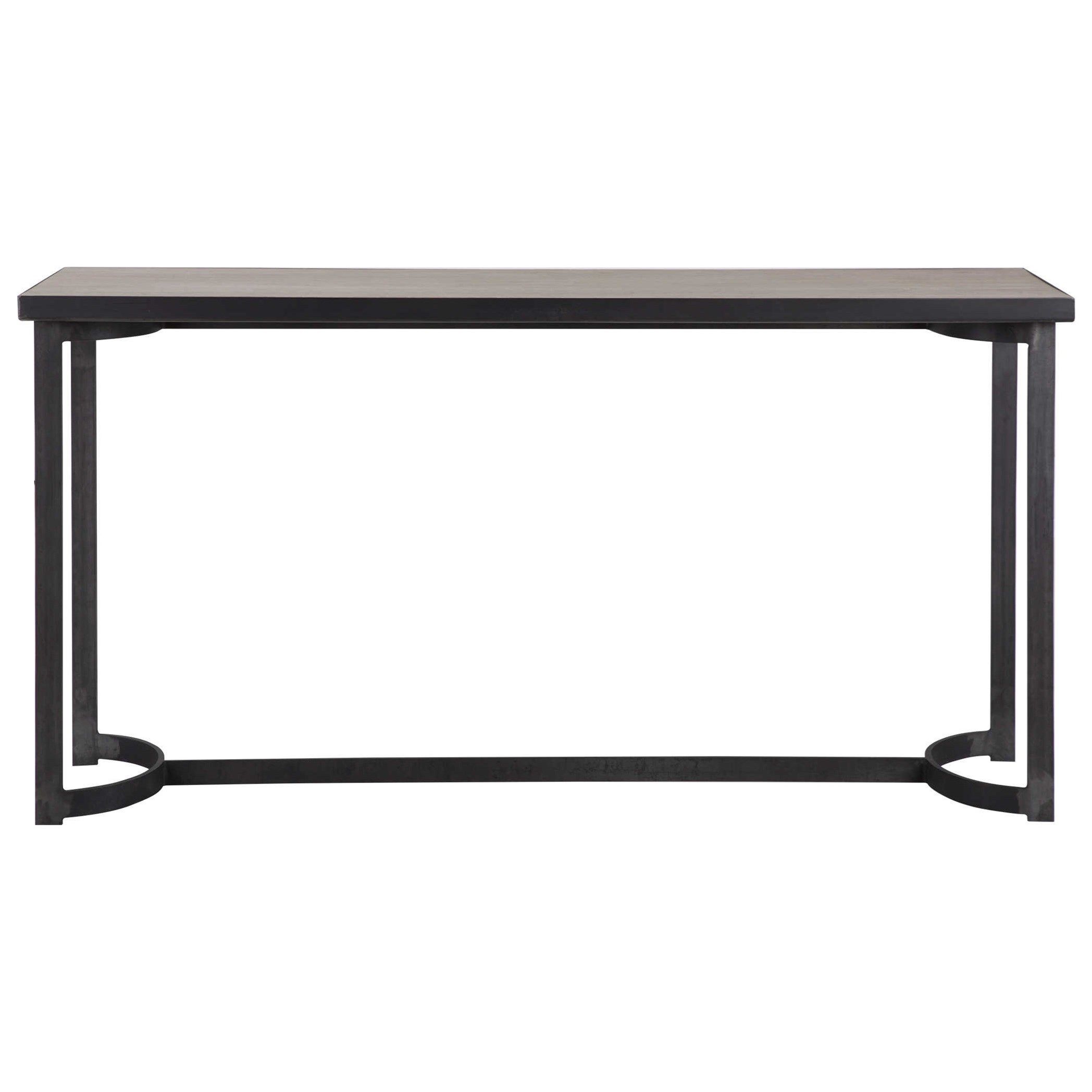Accent Furniture - Occasional Tables Basuto Steel Console Table by Uttermost at Upper Room Home Furnishings