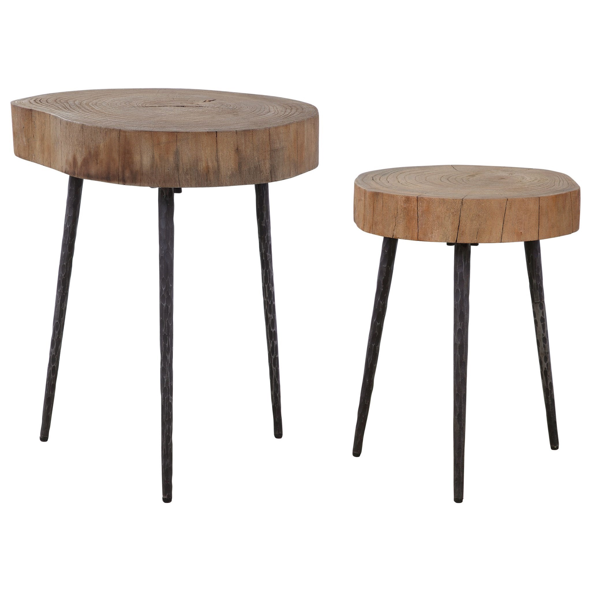Accent Furniture - Occasional Tables Samba Wood Nesting Tables S/2 by Uttermost at Factory Direct Furniture