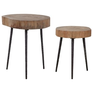 Samba Wood Nesting Tables S/2